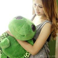 Carino occhi grandi tartaruga peluche bambola cuscino cuscino cuscino farcito giocattolo adorabile morbido cotone piccole tartarughe per bambini regalo dei bambini