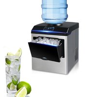 Small Automatic Ice Making Machine Commercial Bullet Round Cube Ice Maker for Milk Tea Bar Coffee Shop 25kg 24H