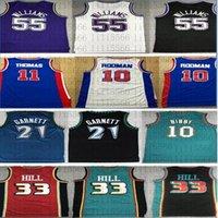 Isja 11 Thomas Dennis 10 Rodman Grant 33 Hill Ason 55 Williams Kevin 21 Garnett 2021 Neues Basketballtrikot