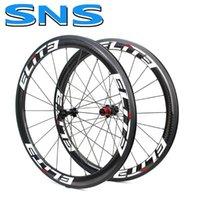 자전거 바퀴 엘리트 SNS 700C 탄소 자전거 휠 선택 1386 / 7647 허브 30 38 47 50 60 깊이 관형 Clincher Tubeless 섬유 도로 휠셋