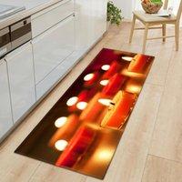 Carpets Home Kitchen Flannel Rug Anti-slip Absorbent Bathroom Mat Bedroom Bedside Floor Area Valentine's Day Living Room Carpet