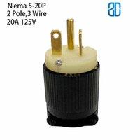 Smart Power Taps US NEMA 5-20P Enchufe masculino Industrial Groungding 2 polo 3 Conector de alambre con cable de cable 20A 125V