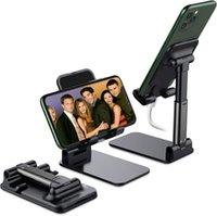 Cell Phone Mounts & Holders Universal Foldable Desk Portable Adjustable Mobile Holder Stand Desktop Flexible Folding Plastic Smart Bracket