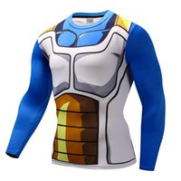 Men's T-Shirts Anime 3D Printed T Shirts Men Compression Fitness Quick Dry Long Sleeve Tshirt Vegeta Cosplay Costume Tops Male Clothing