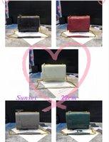 고품질 가방 Luxurys 디자이너 핸드백 골드 체인 실버 체인 지갑 악어 스타일 플랩 가방 여성 체인 어깨 가방 패션 디자이너 크로스 바디 가방 442906