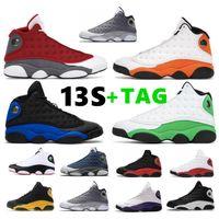 13 Spor Red Flint Basketbol Ayakkabıları 13s Denizyıldızı Siyah Hyper Kraliyet Luky Yeşil Bred Atmosfer Gri Ters O Oyun Eğitmen Sneakers
