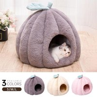 Cat Beds & Furniture Winter Removable Bed House Dog Sleeping Mat Pad Warm Pet Washable Cushion Puppy Soft Plush