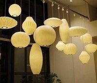 Bubble Saucer Lamp White Silk Cloth Pendant Light Dining Room Clothing Shop Cloth Restaurant Pendant Hanging Lamp