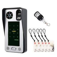 Smartyiba HD Fingerprint Passwort IC Karte WIFI-Türhone mit App Remote Visual Intercom-Entsperren Türklingel Nachtsicht Wasserdichte Video-Tür