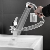 Bathroom Basin Faucet Extender External Shower Head Washbasin Tap Water Divider Bidet Sprayer