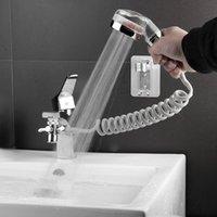 Bathroom Basin Faucet Extender External Shower Head Washbasin Tap Water Divider Bidet Sprayer