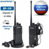 2Pcs Baofeng BF-V9 Mini Portable Walkie Talkie USB Fast Charge 5W UHF 400-470MHz Ham CB Radio Set Uv-5r Woki Toki BF-888S Bf888s