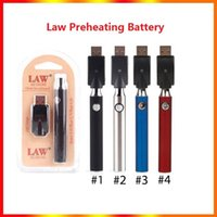 Law Preheating VV Battery Charger Kit 350 650 900 1100mAh PreHeat O Pen Bud Touch Variable Voltage Vape Batteries For CE3 Thick Oil Cartridge