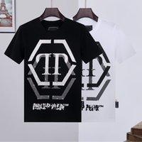 Phillip Düz Tasarımcı Erkek PP Kafatası Elmas T Shirt Kısa Kollu Marka Bahar Ve Yaz Yüksek O-Boyun Kaliteli Kafatasları Tshirt Tees 09