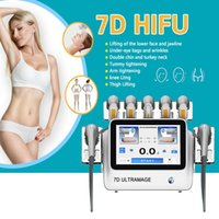 Portable 7 Cartridges 20000 Shots Ultramage 7D hifu machine face lifting anti-aging Anti-Wrinkle Skin Firming Fat Removal body contouring beauty instrument