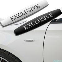 2 stks Auto Side Fender Exclusive Logo Embleem Sticker voor Mercedes Benz A B C E S M V G R CLASSE ML350 ML500 E320 E350 Accessoires