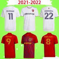 2021 2022 Echte Fußball-Trikots Salz 21 22 Mls Beckman Meram Uniform Herren Red Lake Home Away Rusnák Kreilach Kit Fußball Hemd Uniformer Herrera