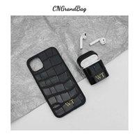 Coque de téléphone mobile de crocodile de luxe personnalisé de luxe pour iPhone 11 12 13 PRO Max Housse de protection pour AirPods 1 2 PRO 4 G0925