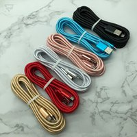 1M 3FT 2M 6FT 3M 10 FT Fabric braided cord Thicker type c cables micro usb OD4.0 nylon data charger cable for samsung s4 s6 s7 edge htc lg sony