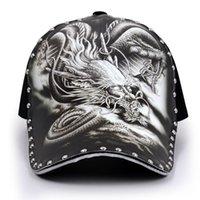 Бейсболка мужской татуированный дракон шляпа шляпа летом улицы оригинальные иллюстрации напечатаны китайский ветер прилив досуг затенение отходы их профилактика