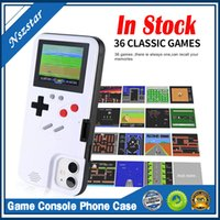 Silicone Phone Case Mini Video Game Player Handheld Game Console 36 Games for iPhone 6 6s 6p 6sp 7 8 7p 8p x XMax Protector Cover