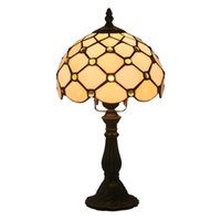 Tiffany Lamp Bedroom Bedside Lamp Retro Bar Yellow Glass Lamp Resin Base Table Lamps Makeup Table Side Table