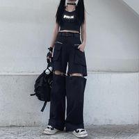 Summer Hip Hop High Cintura Calças de Carga Mulheres Jampas Estilo de Rua Estilo Calças Fividura Track Ajustável Corrida Pantalon Mulheres Capris