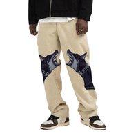 Men's Pants 2021 Autumn Korean Version Of Cargo Men Dog Head Print Casual Fashion Trend Comfortable Loose Trousers