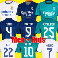 REAL MADRID jerseys 21 22 soccer football shirt CAMAVINGA ALABA HAZARD BENZEMA ASENSIO MODRIC MARCELO VALVERDE camiseta men + kids kit 2021 2022 uniforms fourth 999