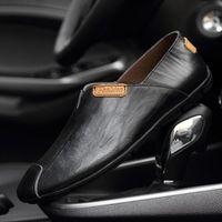 Estate maschile traspirante floppy drive dril doppe scarpe handmade a colori solidi foro casual mocassini plus size 36-47