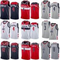 Печатный баскетбол Джерси Брэдли Бил 3 Рассел Westbrook 4 Rui Hachimura 8 Робин Лопес 42 CASSIUS WINSTON 5 DENI AVDIJA 9 Город серый