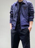 2021 망 디자이너 재킷 브랜드 패션 거리 클래식 옷깃 재킷 슈퍼 과학 기술 금속 거꾸로 된 삼각형 디자인 봄 가을 코트