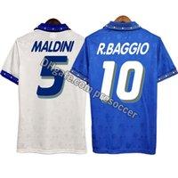 Retro Italien 1994 Fussball Jerseys Baggio Maldini Bockei Zola Vintage Italia Kit Classic Shirt