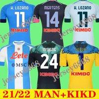 20 21 Napoli Futbol Formaları Insigne 2021 Zielinski Politano Mertens Maradona Futbol Gömlek Lozano 4. Jersey Osimhen Fabian Özel Kit Dördüncü