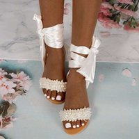 Sandalet Çıngırak Yaz Sandalet Bling Moda Kadın Seksi Ayakkabı Kuşak Düz Kristal Slaytlar Plaj Saten R97M
