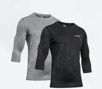 Erkek T-Shirt 3 Renkler Erkek T Shirt Katı Renk Basketbol Hızlı Kuru Sıkı Eğitim Giyim Giyim Koşu Fitness Giyim Moda Casual Qir