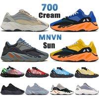 Crème solaire Kanye 700 chaussures de course solide gris orange phosphore triple noir sarcelle de carbone bleu inertie aimant sel statique hommes femmes baskets