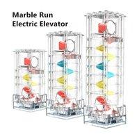 높이 조절 가능한 대리석 경주 실행 전기 엘리베이터 나선형 인상 롤링 볼 리프트 모터 호환 큰 빌딩 블록 부품 H1028
