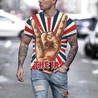 Erkek Grafik T Gömlek Moda 3D Dijital Tees Erkek Yaz T-shirt Yüksek Kaliteli Baskı Gençlik Sokak Tarzı Tişörtleri Erkekler Mürettebat Boyun Açık Artı Boyutu