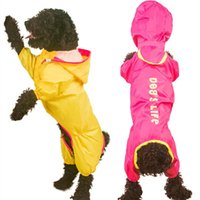 Dog Apparel Hooded Raincoat Waterproof Clothing For Rain Jacket Pet Coat Small Clothes Jumpsuit Costume