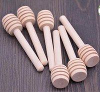 8 см Длинные мини-деревянные медовые палочки медных пейпонок для медовых Party Supply ложка палочки медовая банка HWB8159