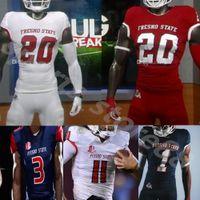 사용자 정의 NCAA 2021 Fresno State Footbal Jake David Carr Jake Haener Ronnie Rivers Jalen Cropper Evan Williams Chris Gaston Keric Wheatall 4XL
