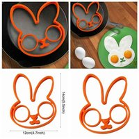 Silicone Egg Baking Mold Cute Rabbit Omelette Fried Mould Kitchen Ring Molds Cooking Tool DND5