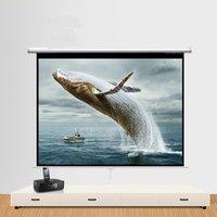 Ручной выдвижной проектор экран 60 72 84 100 дюймов 16: 9 HD широкоформатные выдвижные автоблокирующие портативные проекционные экраны