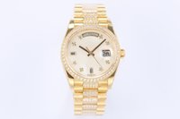 Mens Watches EW 3255 Automatic chain attaching movement 18CT gold dial set with diamond diameter 36mm*12mm quick adjustable instantaneous jump luxury watch