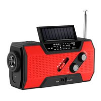 Radio Emergency 2000mAh-Solar Hand Crank Portable AM FM NOAA Weather With & Reading Lamp Cell Phone Charger