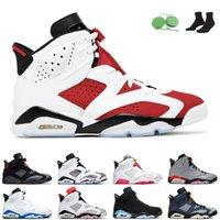Jumpman 6 мужчин баскетбольные туфли 6s Carmine Electric Green Tinker UNC наружные мужские спортивные кроссовки