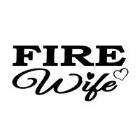 16CM*7.6CM Creative Fire Wife Vinyl Waterproof Car Sticker Decal Black Silver Accessories