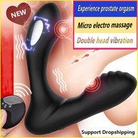 Micro Electric Choc masculin Homme Massager Massager Anal Plug Anal Vibrateurs sans fil Dildo Télécommande Vibrateur Toy sexuels pour hommes Gay 18