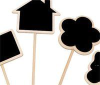 Etiquetas de la planta Marcador Forma linda Inserción de la tarjeta Mini Blackboard Woodiness Arts and Crafts Originalidad Dominio del hogar HWD6248